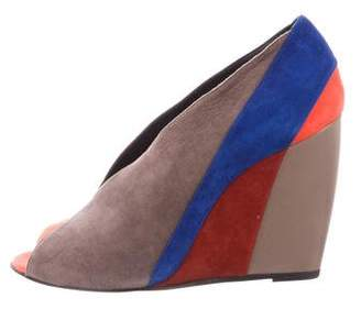 Pierre Hardy Suede Wedge Pumps