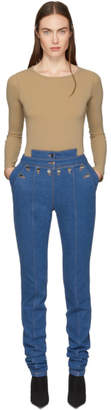 Kreist Blue High-Rise Sailor Fitted Jeans