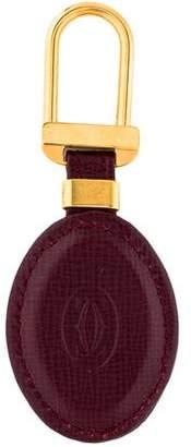 Cartier Logo Leather Keychain