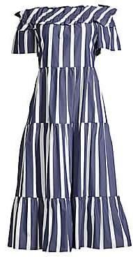 Trina Turk Women's Cattleya Striped Midi Dress