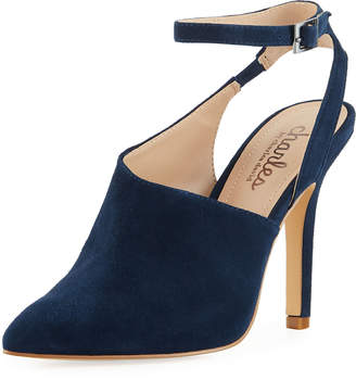 Charles by Charles David Mieko Ankle-Wrap Suede Pumps