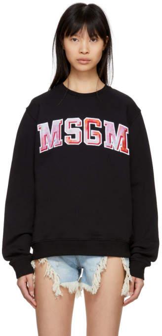 Black Tie-dye Logo Sweatshirt