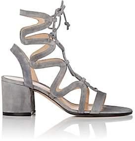 Gianvito Rossi Women's Artemis Suede Gladiator Sandals-Fumo