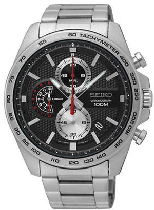 Seiko Chronograph Stainless Steel Link Bracelet Watch