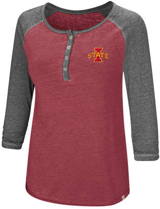 Colosseum Women Iowa State Cyclones Burnout Heather Henley T-Shirt