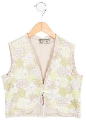 Ermanno Scervino Girls' Linen-Blend Vest