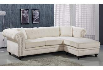 Everly Quinn Spangler Reversible Sofa and Chaise Lounge Quinn