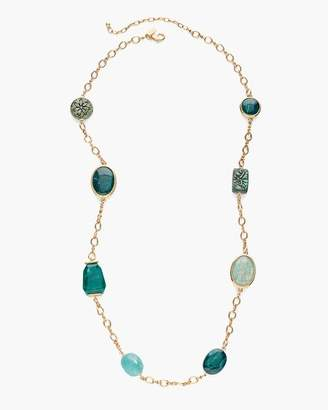 Teal Stone Single-Strand Necklace