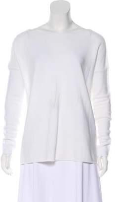 White + Warren Bateau Neck Long Sleeve Top