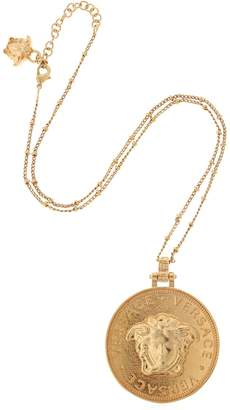 Versace Embossed Coin Necklace