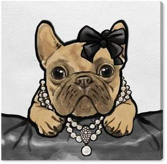 """Oliver Gal Gallery Glam Frenchie Canvas Print - 12\""""x12\"""""""