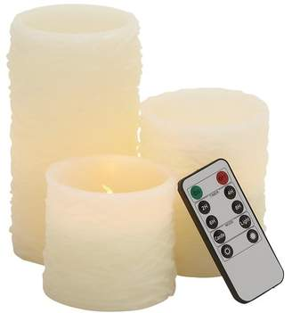 Brayden Studio 3 Piece Unscented Flameless Candle Set