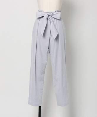 Noela (ノエラ) - Noela 【andGIRL4月号掲載】【セットアップ対応商品】麻混リボン付パンツ