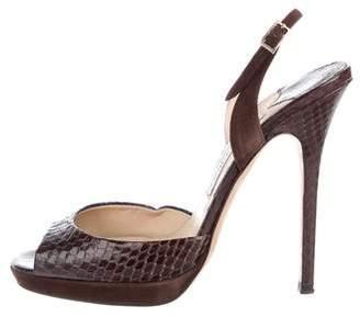 Jimmy Choo Snakeskin High-Heel Sandals