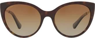 Bulgari tortoiseshell cat eye sunglasses