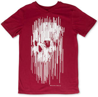 Sean John Big Boys Stretched Pixel Skull Graphic T-Shirt