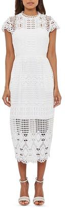 Ted Baker Emelia Lace Midi Dress $549 thestylecure.com