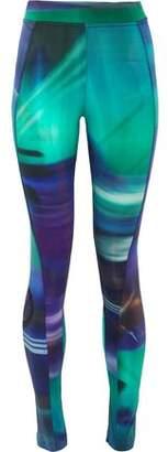 Y-3 + Adidas Printed Stretch-Cotton Jersey Leggings