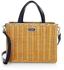 Kate Spade Women's Sam Wicker Medium Satchel