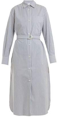 Max Mara Beachwear - Folgore Shirtdress - Womens - Blue Stripe