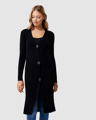 Forever New Elora Button Up Longline Cardigan