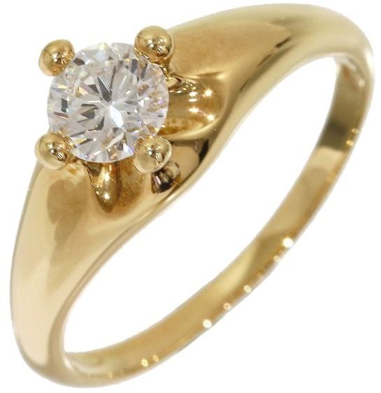 Bvlgari Bulgari Bvlgari 18K Yellow Gold 0.374ct Diamond Corona Ring Size 5