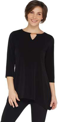 Belle By Kim Gravel Belle by Kim Gravel Hi-Low Tunic with Keyhole Trim