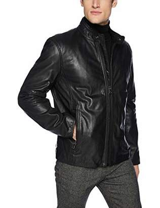 Andrew Marc Men's Emerson Calfskin Leather Jacket