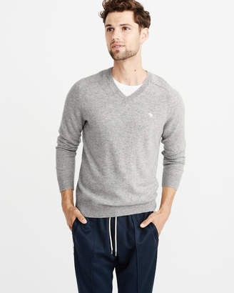 Abercrombie & Fitch Cashmere Icon V-Neck Sweater