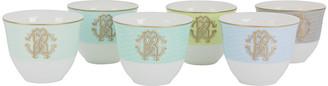 Roberto Cavalli Lizzard Sunrise Arabic Cups - Luxury Box Set of 6