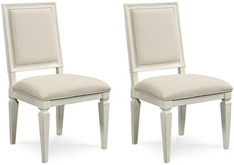 One Kings Lane Set of 2 Summer Hill Woven Side Chairs - Cream