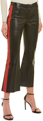 Alexander McQueen Cropped Leather Trouser