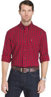 Izod Sportswear Big & Tall Men's Regular-Fit Tartan Plaid Button-Down Shirt