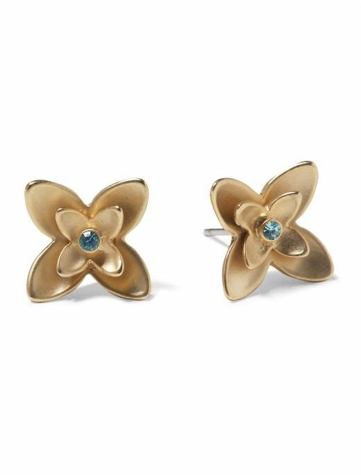 Hive and Honey Gold Flower Studs