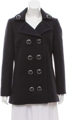 Michael Kors Virgin Wool Double-Breasted Coat