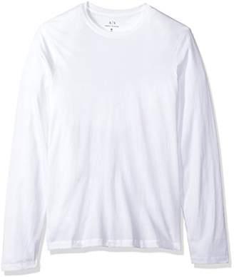 Armani Exchange A|X Men's Basic Long Sleeve Jersey Crew Neck Tee