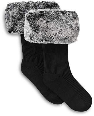 UGG Rib Knit Socks with Faux Fur Cuffs