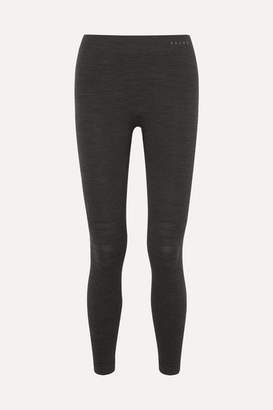 Falke Ergonomic Sport System - Technical Stretch Wool-blend Leggings - Black