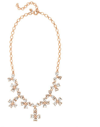 J.Crew Heart cluster necklace