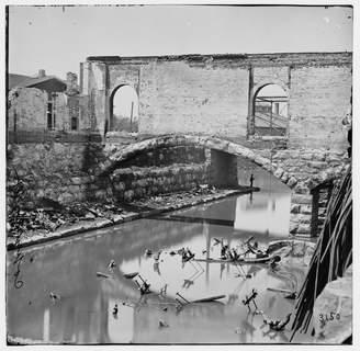 Richmond Historic Photos 1865 Photo Richmond, Virginia. Ruins along the canal