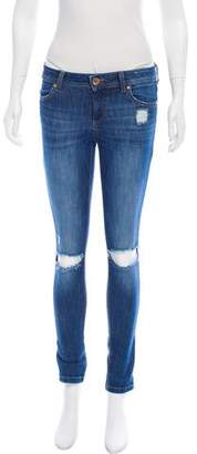 DL1961 Distressed Mid-Rise Jeans