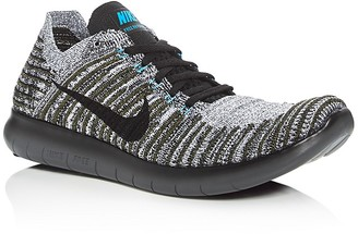 Nike Men's Free RN Flyknit Lace Up Sneakers $130 thestylecure.com