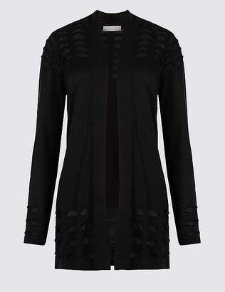 Marks and Spencer Armadillo Open Front Long Sleeve Cardigan