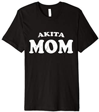 Akita Mom Dog Mother Cute Pet Distressed T-Shirt