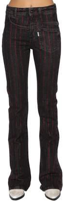 Filles a papa Twisted Embellished Flared Denim Jeans