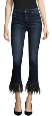 Paige Exclusive Jacqueline Feather-Hem Jeans