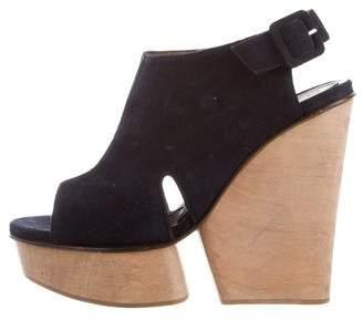 Marni Peep-Toe Suede Sandals