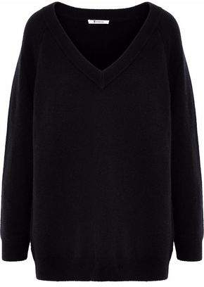 Alexander Wang Mélange Wool And Cashmere-Blend Sweater