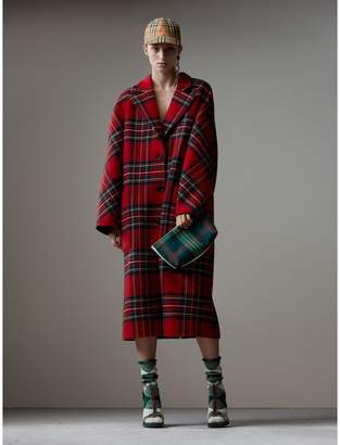 Burberry Tartan Double-faced Wool Cashmere Oversized Coat