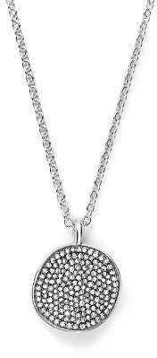 """Ippolita Sterling Silver Glamazon® Stardust Small Pavé Disc Necklace with Diamonds, 16"""" - 100% Exclusive"""